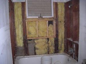 bath behind the walls