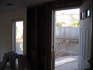 removing old door