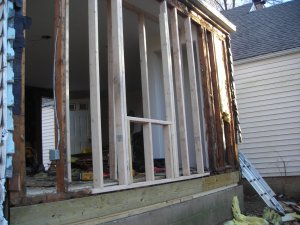 rebuild exterior wall