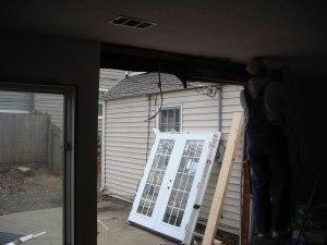 Enlarging a door opening